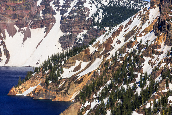 Crater Lake shoreline